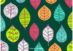 Carta da parati astratta foglie vettoriale