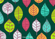 Abstract Leaves Vector Wallpaper
