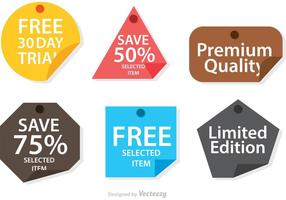 Set Of Promo Shape Note Vector