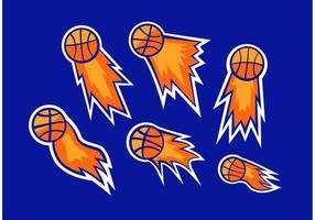 Basketball auf Feuer Vektoren