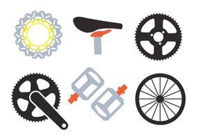 Vectores de los piñones de la bici