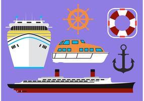 Vectores Del Liner Del Crucero