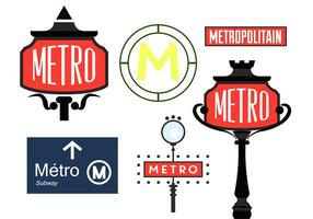 Vectores del signo del metro de París