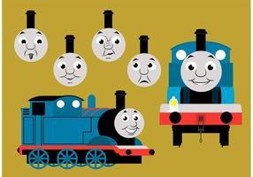 Thomas los personajes del vector del tren