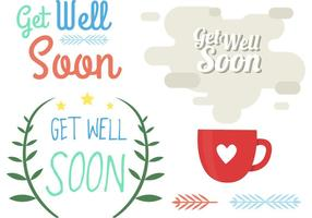 Get Well Soon Element Vectors
