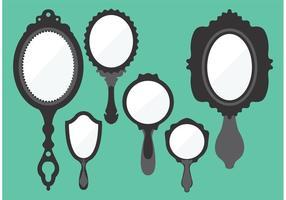 Vecteurs miroirs à main vintage