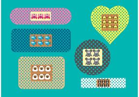 Kid Bandaid Vectors