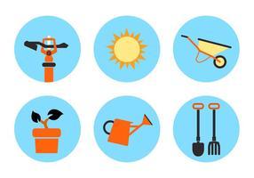 Icone di vettore del giardino