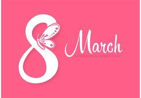 Cartão livre do dia das mulheres do vetor do vetor