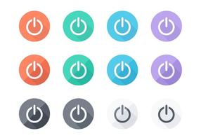 Livre Flat On Off Vector Buttons