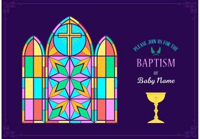 Colorful Baptism Invitation Vector