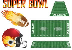 Set vettoriale Super Bowl