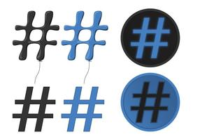 Seja popular com os vetores Hashtag