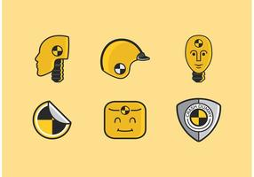 Crash dummy vector iconos