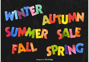 Seasonal Colourful Text Signs