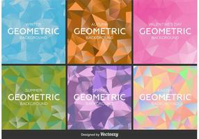 Geometric and Polygonal Backgrounds vector