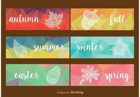 Seasonal Geometric Labels