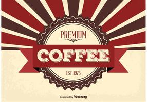 Fundo de café premium