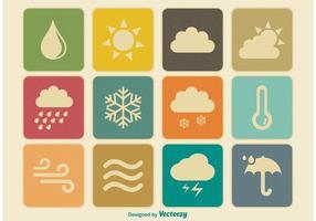 Ícones meteorológicos vintage