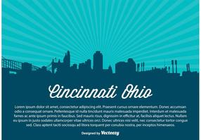 Cincinnati Skyline Illustratie