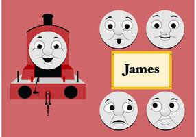 James van Thomas de Tank Engine Gratis Vector