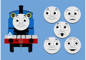 Thomas de Tank Engine Gratis Vector