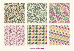 Blommiga retro mönster