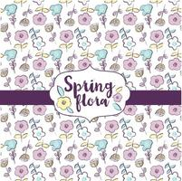 Frühlings-Flora-Muster-Design