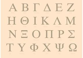 Serif Greek Alphabet Set vector