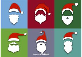Santa Claus flache Vektor Icons