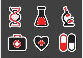 Set Medicinska Ikoner Vektor