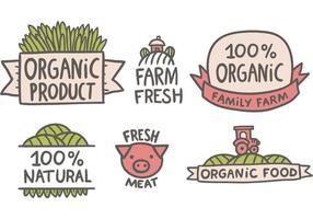 Vecteurs de marché gratuits des agriculteurs