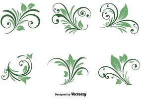 Spring Natural Swirls vector