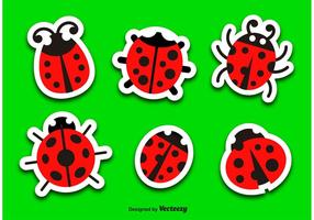 Ladybug cartoon vector