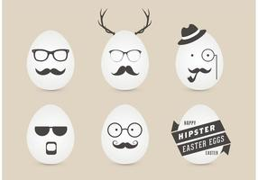 Vetor de ovos de páscoa masculinos de hipster grátis