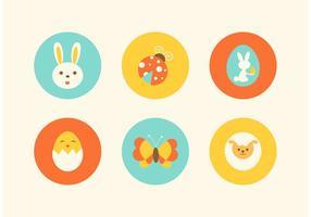 Icônes gratuites de vecteur de Pâques