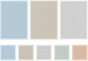 Fiches vectorielles de papier à graphe millimétrique