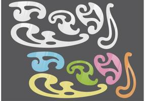 French Curve Vector Set