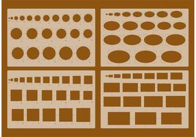 Vecteurs de stencil d'architecture vecteur