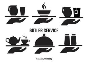 Butler Service Vector Icon Set