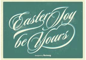 Vecteur d'affiche typographique de Pâques
