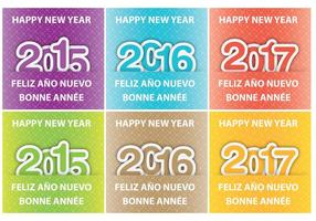 Happy New Year Vector Cards