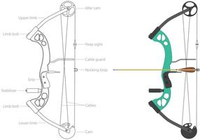 Vecteurs d'arc composés de sport