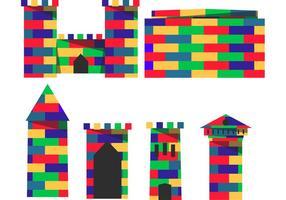 Vetores construtivos do forte de Lego