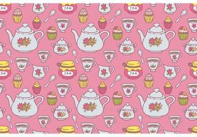 Free Tea Pattern Vektor