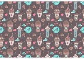 Gratis Färgglada Iced Coffee Seamless Pattern Vector