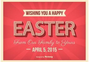 Cartel tipográfico del cartel de Pascua
