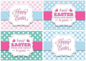 Étiquettes mignonnes de vecteur de Pâques