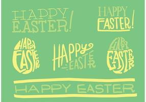 Tipografia do vetor da Páscoa desenhada à mão