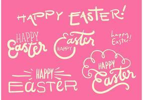 Feliz Pascua Vector Set Gráfico